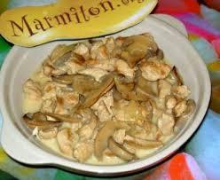 cuisiner des escalopes de poulet escalope de poulet aux chignons et au riesling recette de