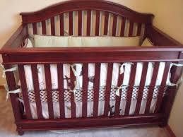 Convertible Crib Cherry Lajobi Europa Baby Palisades Convertible Crib Rustic Cherry Ebay
