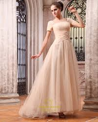 light gold prom dresses with sleeves gold evening dresses with