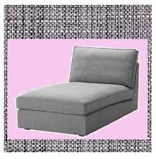 Ikea Chaise Lounge Ikea Kivik Chaise Lounge Slipcover Cover Only Isunda Gray Grey Ebay