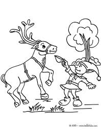 christmas elf u0026 reindeer coloring pages hellokids