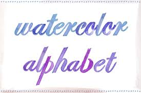 watercolor alphabet letters