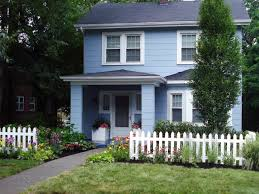 spanish design homes inspirations blue house with white fence and spanish style homes
