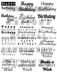 126 best birthday sentiments and fonts images on pinterest