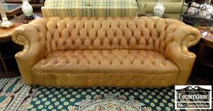 mayfield light brown leather chesterfield sofa baltimore