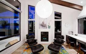 Charles Eames Lounge Chair White Design Ideas Living Room Living Room Decor Two Eames Loungers Shades