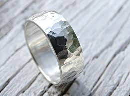 men rings silver images Buy a hand crafted bold mens ring hammered surface and domed shape jpg