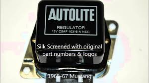 1965 1973 mustang voltage regulators reproductions by mustang