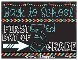 first day of photo prop signs free printables inkhappi