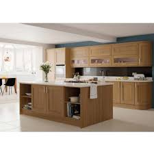awesome brown color walnut kitchen cabinets featuring curved shape