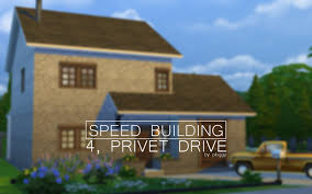 the sims 4 speed building 4 privet drive harry potter u0027s