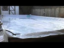 backyard custom ice hockey rink u0026 easy how to build youtube