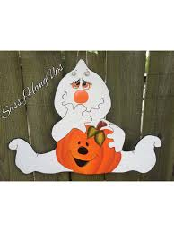 halloween door hanger ghost door hanger pumpkin door hanger