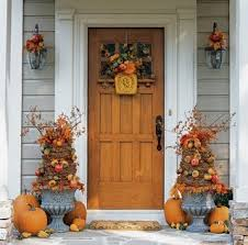 Fall Decorated Porches - you will love these great fall decorating ideas old time pottery