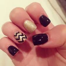 fabulous nails on gold nail gold and black