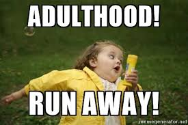 Meme Running - running away from problems