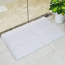 White Bathroom Rug Lochas Soft Shaggy Bath Mat Bathroom Rug Anti Slip