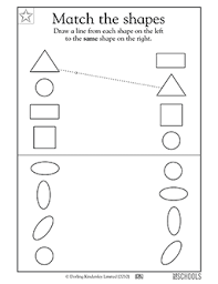 kindergarten preschool math reading worksheets match the
