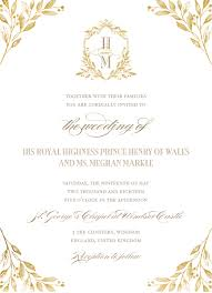 royal wedding invitation royal wedding update this is what prince harry and meghan