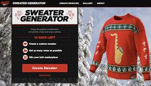 coca cola lets you create your own sweater food