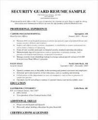 Sample Resume For Security Guard Position by Security Guard Resume Sample My Perfect Resume Security Guard Job