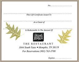dinner gift cards erling restaurant gift certificates