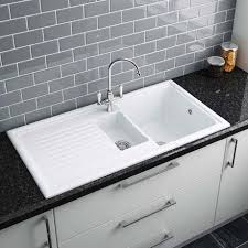 1 bowl kitchen sink reginox white ceramic 1 5 bowl kitchen sink at victorian plumbing uk