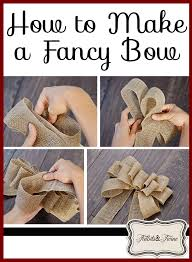 burlap ribbon bow diy inexpensive fall wreath and fancy bow tidbits twine