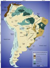 Map Of The South America by Tectonic Elements Of The South American Plate Terranes Of The