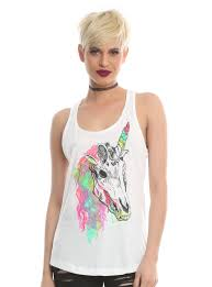 Unicorn Clothes For Girls Rainbow Unicorn Skull Girls Tank Top Topic