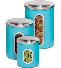 Blue Kitchen Canisters Stainless Kitchen Canisters Set Of 4 Stainless Steel S S