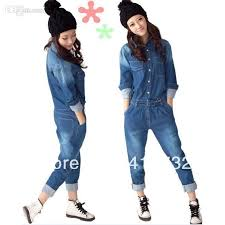 sleeve denim jumpsuit 2015 arrival denim jumpsuit for detachable at back with