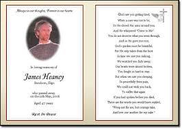 memorial phlets funeral memorial card template free printable funeral memorial