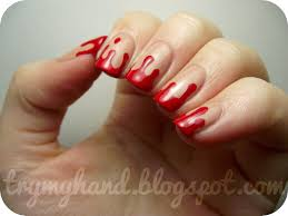 blood nail art choice image nail art designs