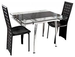 dining room glass expandable dining table for small spaces