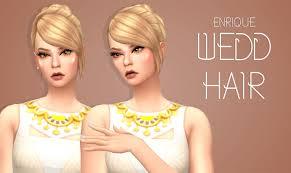 sims 4 hairs enrique wedd hair
