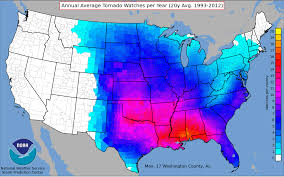 United States Storm Map by Tornadoes