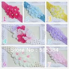 cheap headbands crochet baby headband flower pearl crochet headbands for