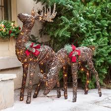 lighted reindeer christmas door decorations