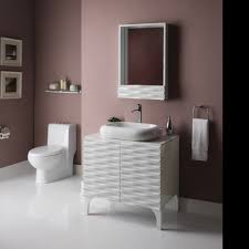 High Gloss Bathroom Vanity by Decolav Sophia Modern Bathroom Vanity Includes Bianco Marble Top