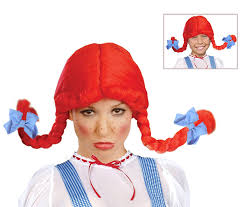 dorothy halloween costumes for kids amazon com red fast food costume wig wendys wig with braids for