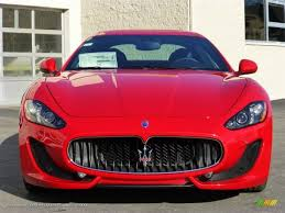 red maserati 2013 maserati granturismo sport coupe in rosso mondiale red