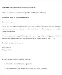 examples of customer service letters of complaintapology letters