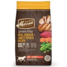 merrick grain free real chicken sweet potato dry dog food petco