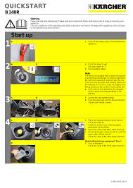 karcher b 140 r bp pack dose 400ah user manual 5 pages also