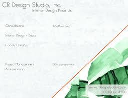 cr design studio inc rates and services
