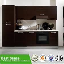 matt wood veneer cabinet melamine knock down kitchen cabinet made