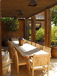 Patio Furniture Sacramento by Extra Long Outdoor Dining Table Houzz