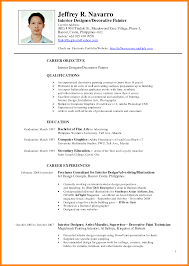 official resume format 5 resume template philippines science official format sl sevte