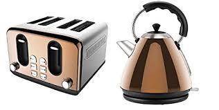 Kettle Toaster Offers Copper Breakfast Set Toaster U0026 Kettle 2 Piece Amazon Co Uk
